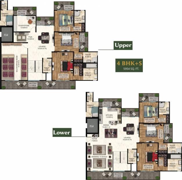 The Antriksh The Golf Address (6BHK+6T (5,954 sq ft)   Study Room 5954 sq ft)