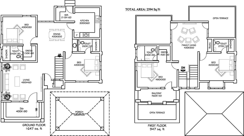 Amazing Royal Castle Floor Plan #7: Zealots Property Management Royal Castle Floor Plan (4BHK+4T (2,594 Sq Ft)