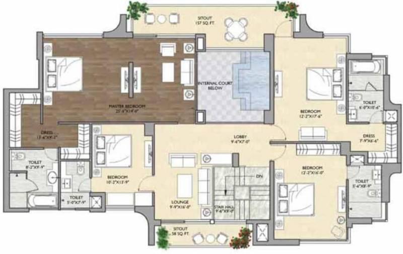 Vipul Aarohan (5BHK+5T (5,450 sq ft) + Servant Room 5450 sq ft)
