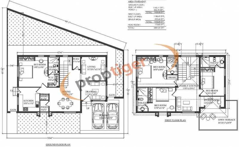 2991 sq ft 4 bhk floor plan image subishi developers for Windsor homes floor plans