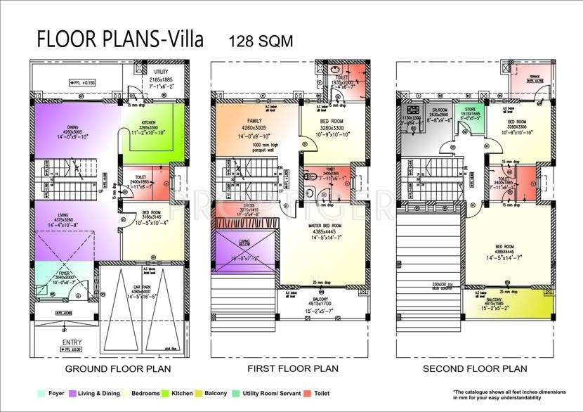 1378 sq ft 5 bhk 5t villa for sale in land craft for Landcraft homes floor plans