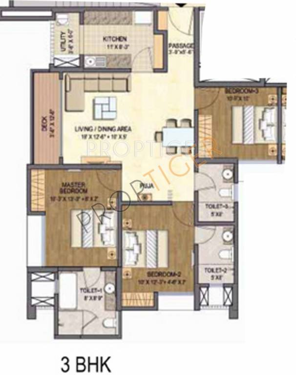 1412 sq ft 3 bhk 3t apartment for sale in lodha grandezza for 1500 sq ft apartment floor plan