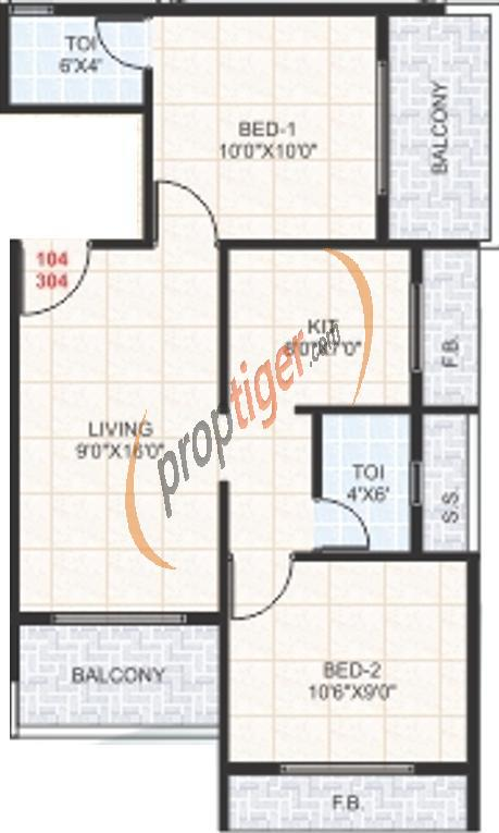 925 Sq Ft 2 Bhk 2t Apartment For Sale In Devkrupa Dev