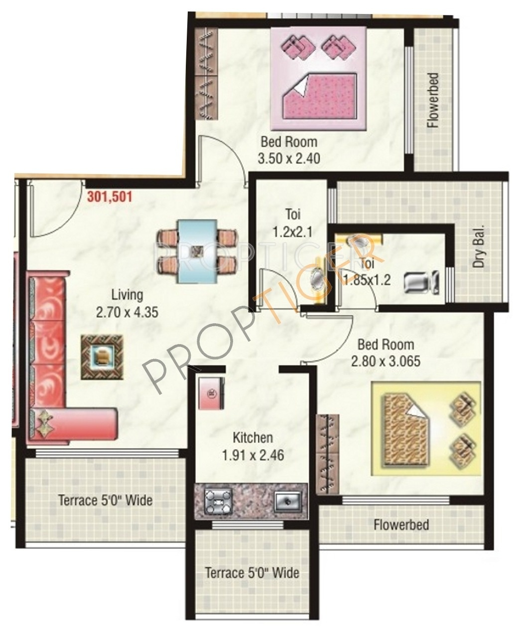950 Sq Ft 2 Bhk 2t Apartment For Sale In Jai Ganesh