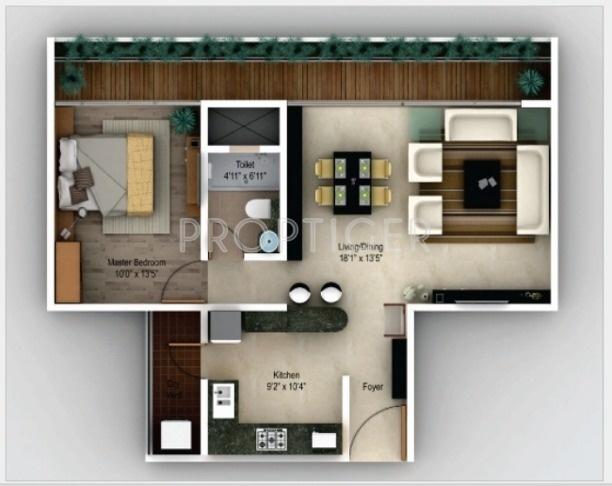 Perfect Studio Apartment Amanora For Sale On Design