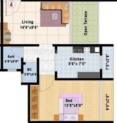 680 sq ft 1 bhk 1t apartment for sale in happy home group for 680 square feet house plan