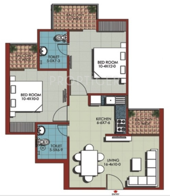 950 Sq Ft 2 Bhk 2t Apartment For Sale In Jnc Constructions