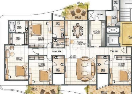 3000 Sq Ft 4 Bhk Floor Plan Image Supreme Universal