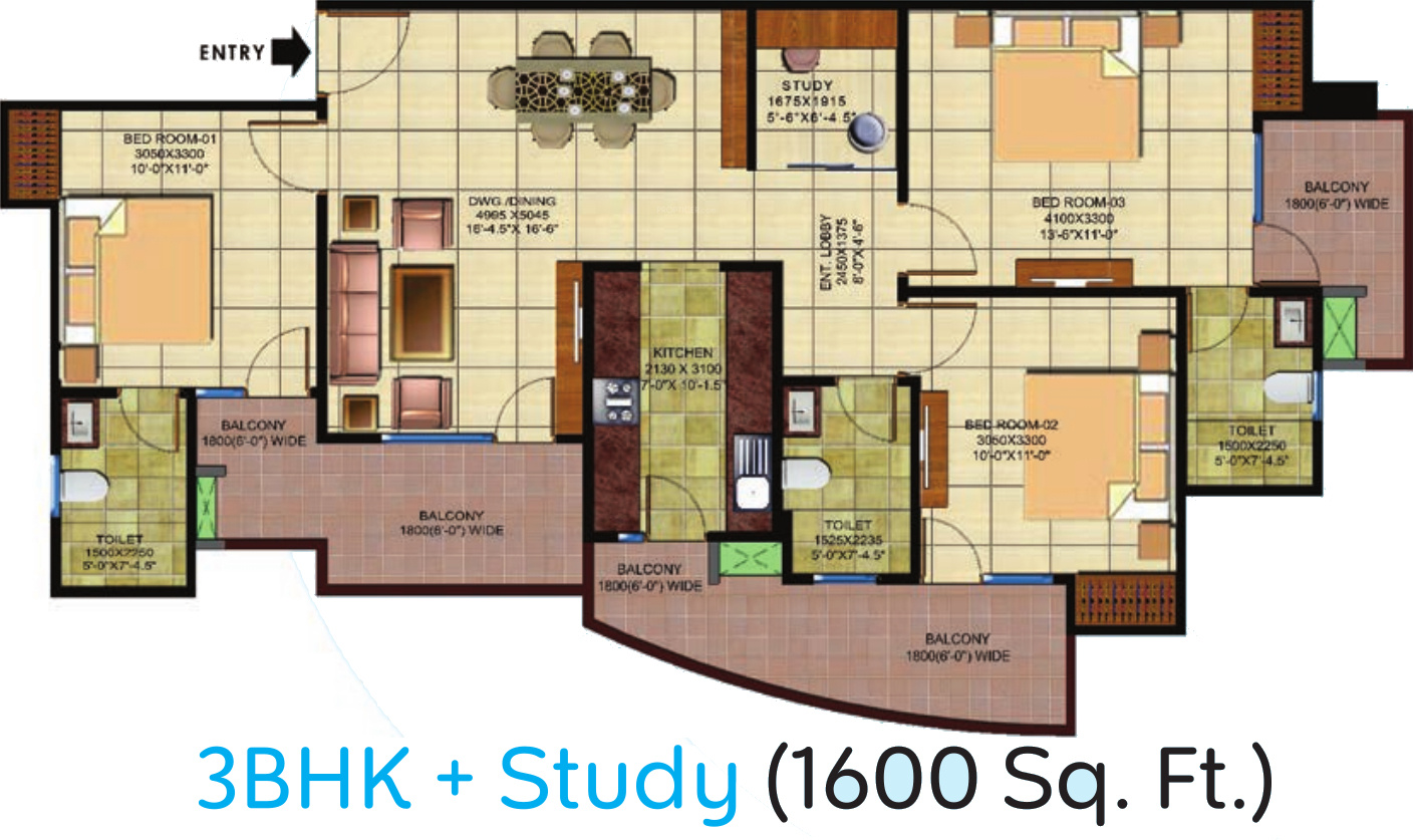 1600 sq ft 3 bhk 3t apartment for sale in vp space for 1600 sft apartment design