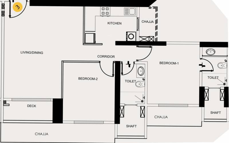 SD Epsilon (2BHK+2T (765 sq ft) 765 sq ft)