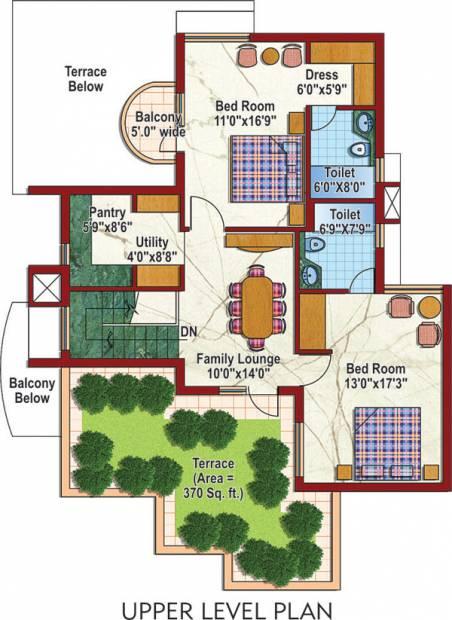 Purvanchal Silver City 2 (4BHK+4T (2,495 sq ft)   Servant Room 2495 sq ft)
