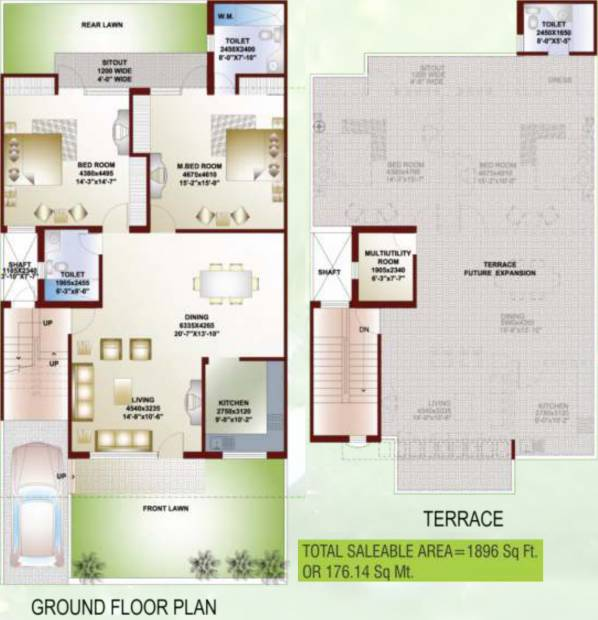 Ansal Orchid Garden (2BHK+3T (1,896 sq ft) + Study Room 1896 sq ft)