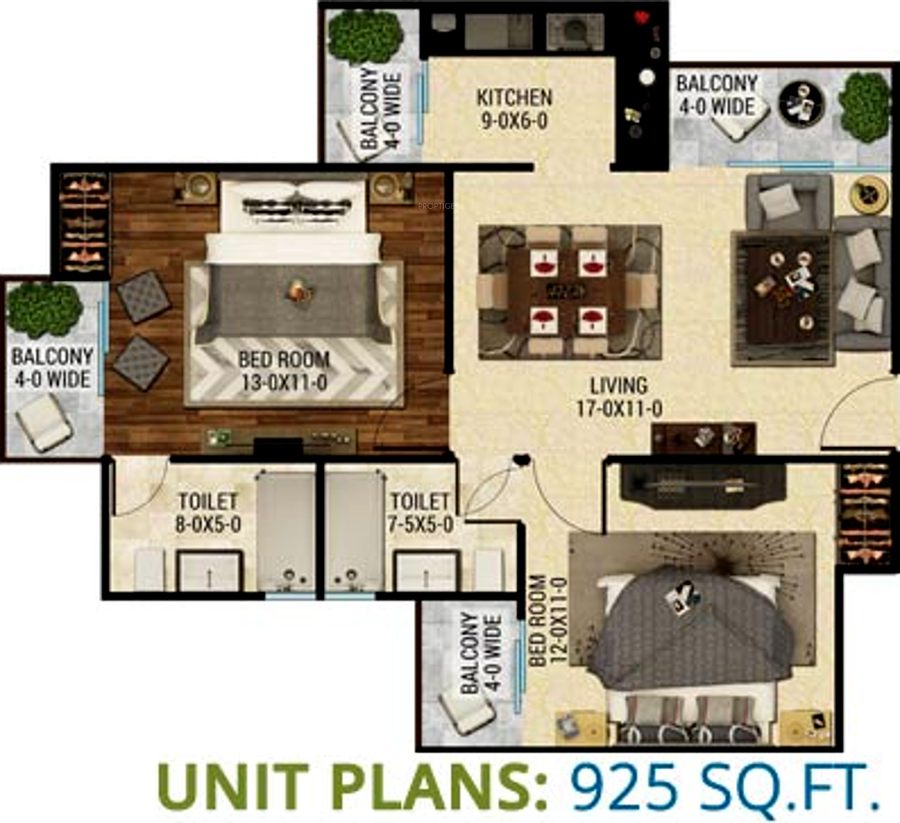 925 Sq Ft 2 Bhk 2t Apartment For Sale In The Antriksh