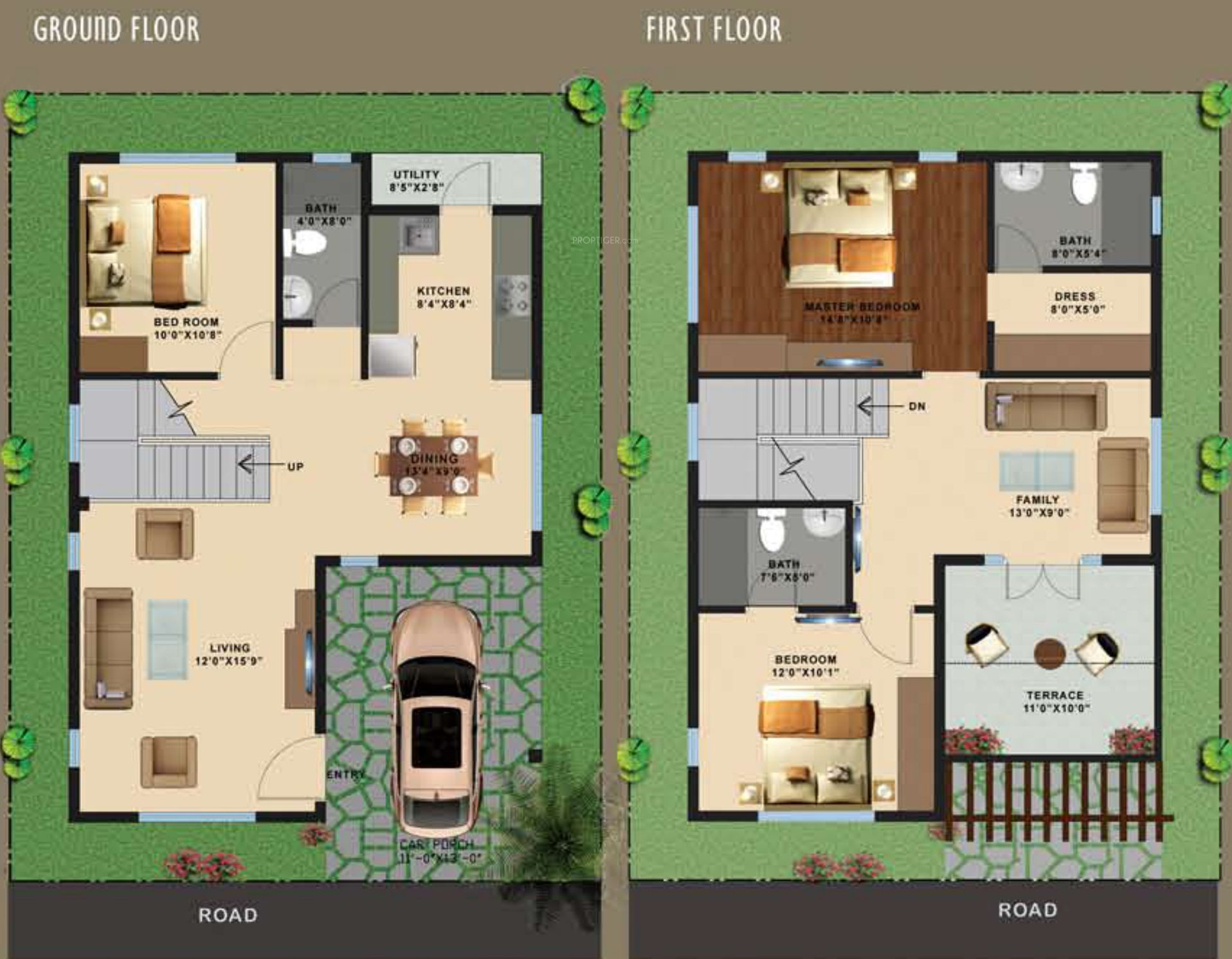 House plan for 1500 sq ft bangalore for 30x50 duplex house plans