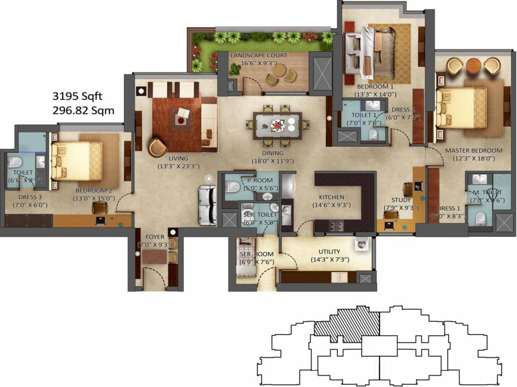 3165 sq ft 3 bhk 3t apartment for sale in mantri group for 12 by 12 room sq ft