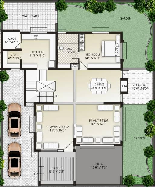 5400 Sq Ft 5 Bhk Floor Plan Image Signature Group