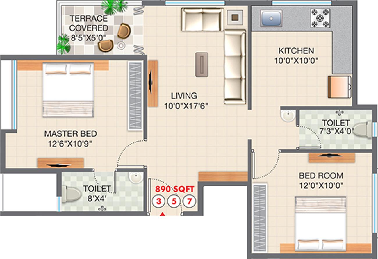Advait vaishnavi apartments in sane guruji nagar nashik for 12th floor apartments odessa