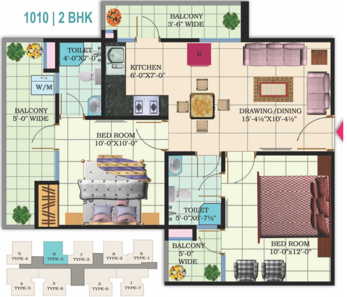 1010 Sq Ft 2 Bhk 2t Apartment For Sale In Windsor