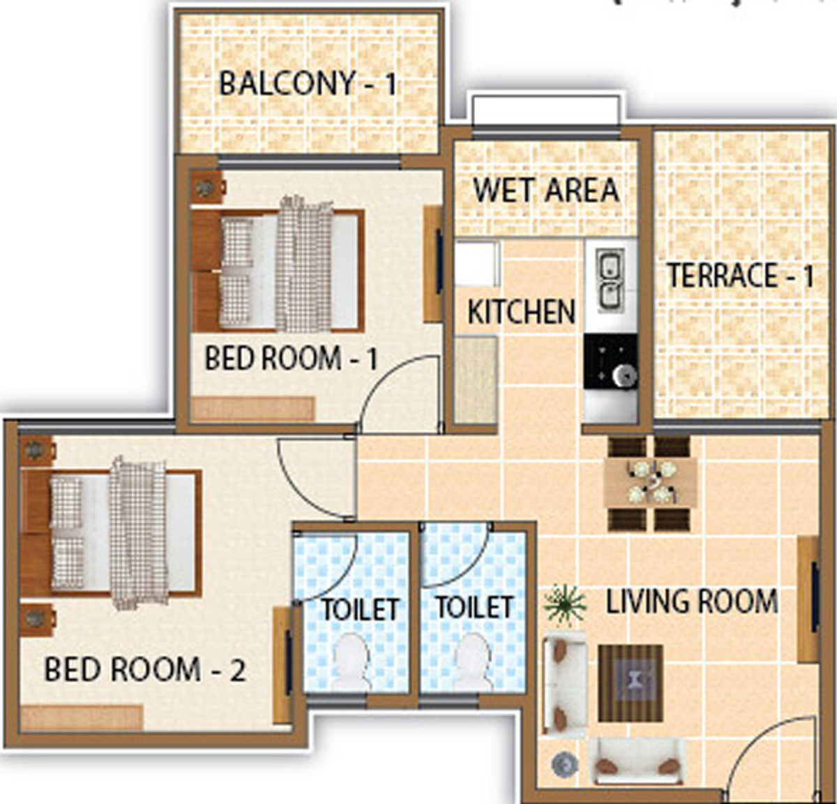 770 Sq Ft 2 Bhk 2t Apartment For Sale In Shree