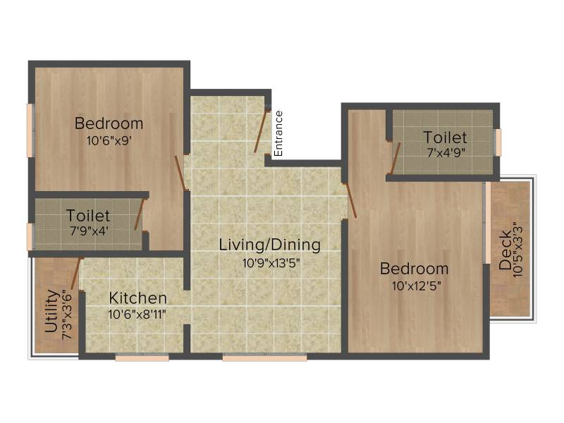 Colorhomes Avenue (2BHK+2T (879 sq ft) 879 sq ft)