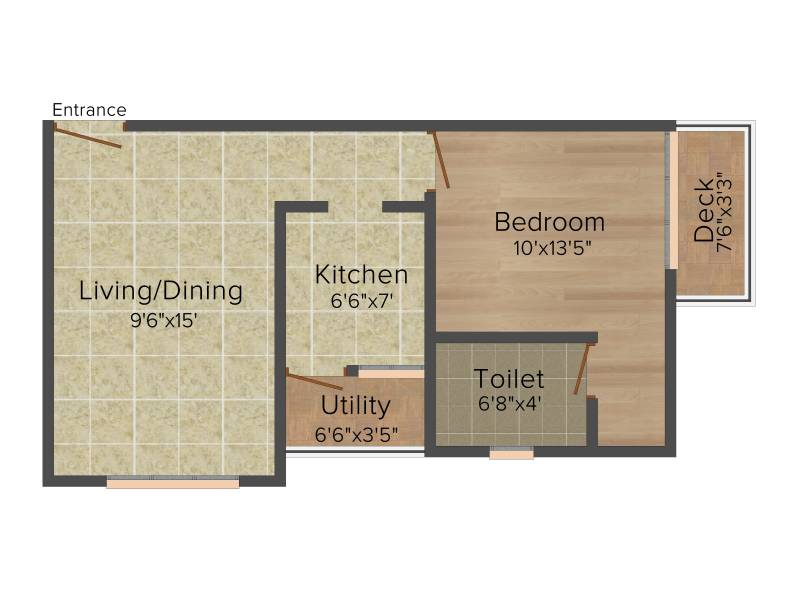 Colorhomes Avenue (1BHK+1T (562 sq ft) 562 sq ft)