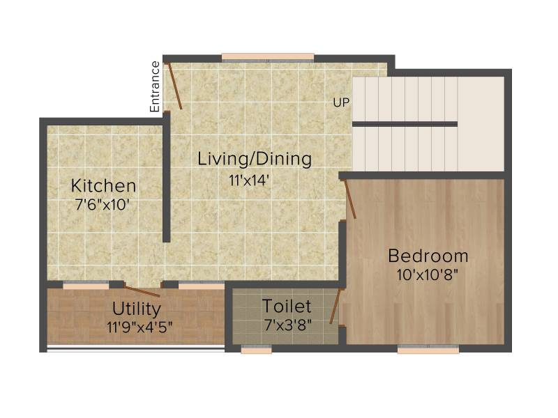 Colorhomes Avenue (3BHK+3T (1,467 sq ft) 1467 sq ft)