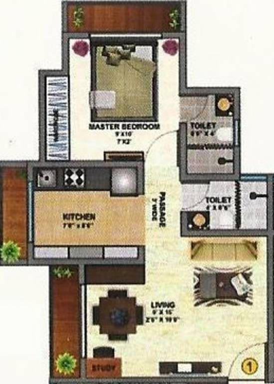 720 sq ft 1 bhk 2t apartment for sale in daichi infra llp for 720 sq ft apartment floor plan