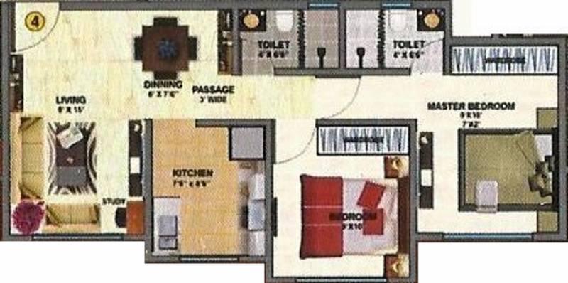 Daichi Infra LLP Aabiel Paradise (2BHK+2T (1,025 sq ft) 1025 sq ft)