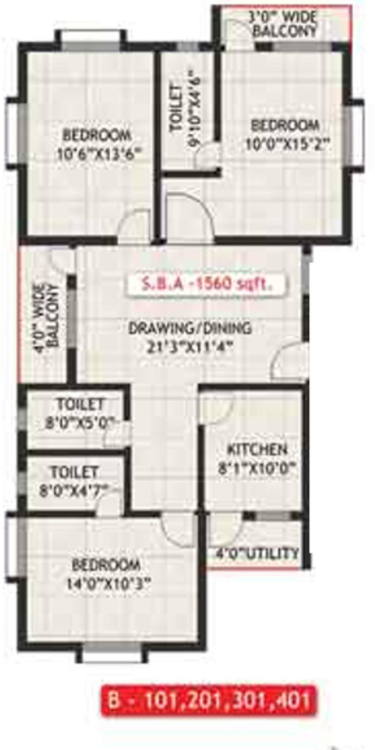 1560 sq ft 3 bhk 3t apartment for sale in khushi realcon for Banes planning