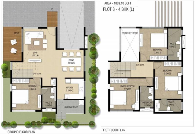 Nucleus Spells Villas (4BHK+4T (1,869 sq ft) 1869 sq ft)