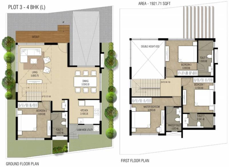 Nucleus Spells Villas (4BHK+4T (1,921 sq ft) 1921 sq ft)
