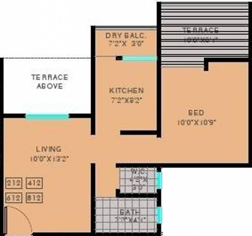 1 bhk 1t apartment for sale in maple aapla ghar wajankata for Ghar plans design