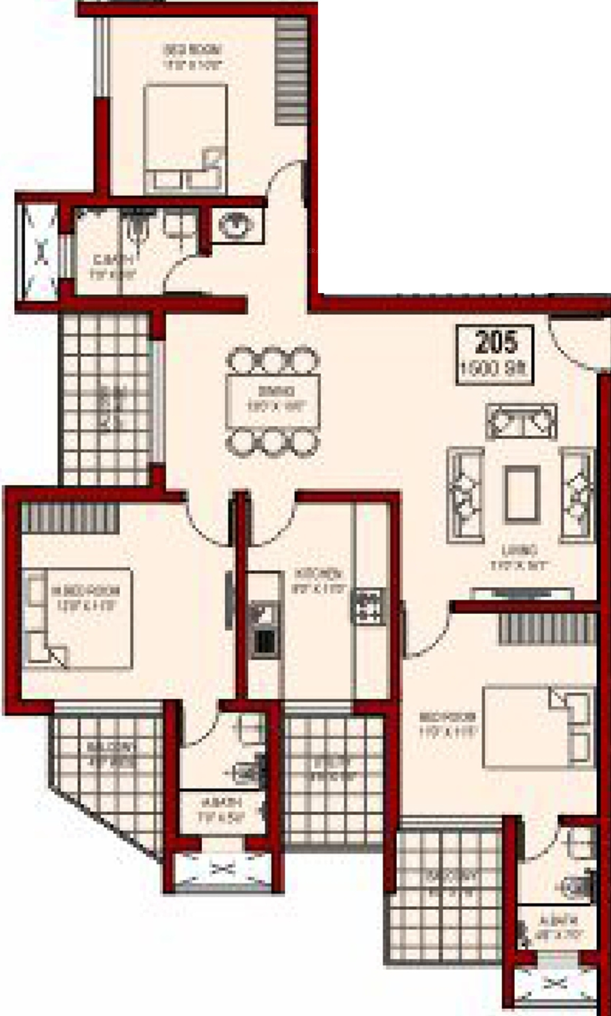 Sunshine palazzo in surathkal mangalore price location for Palazzo floor plan