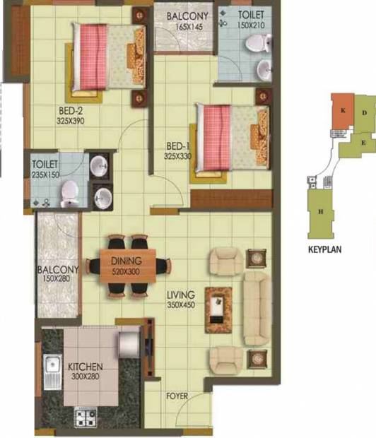 Arcon Infinity (2BHK+2T (1,063 sq ft) 1063 sq ft)