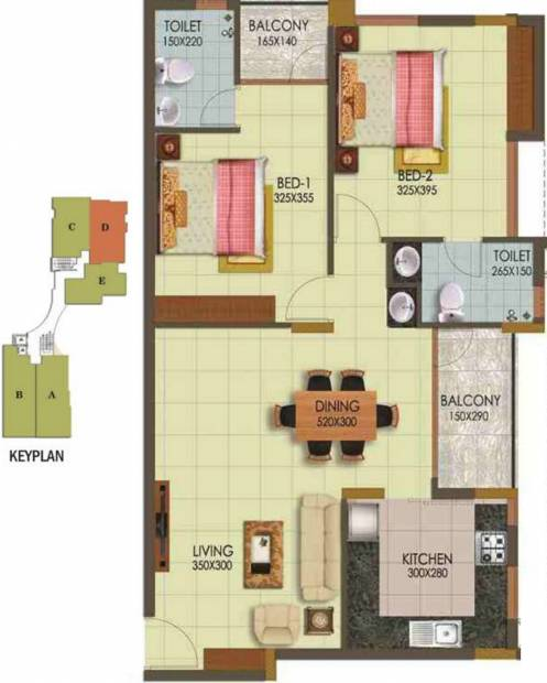 Arcon Infinity (2BHK+2T (1,170 sq ft) 1170 sq ft)