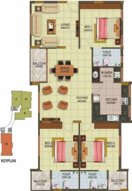 Arcon Infinity (3BHK+3T (1,693 sq ft) 1693 sq ft)
