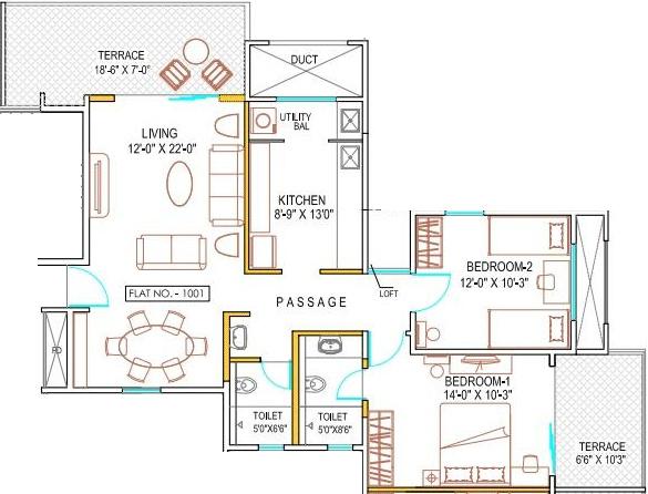 Naiknavare Housing Sylvan Premium (2BHK+2T (1,258 sq ft) 1258 sq ft)