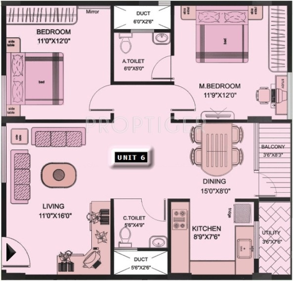 1125 sq ft 2 bhk 2t apartment for sale in sai group pune for 1125 sq ft floor plan