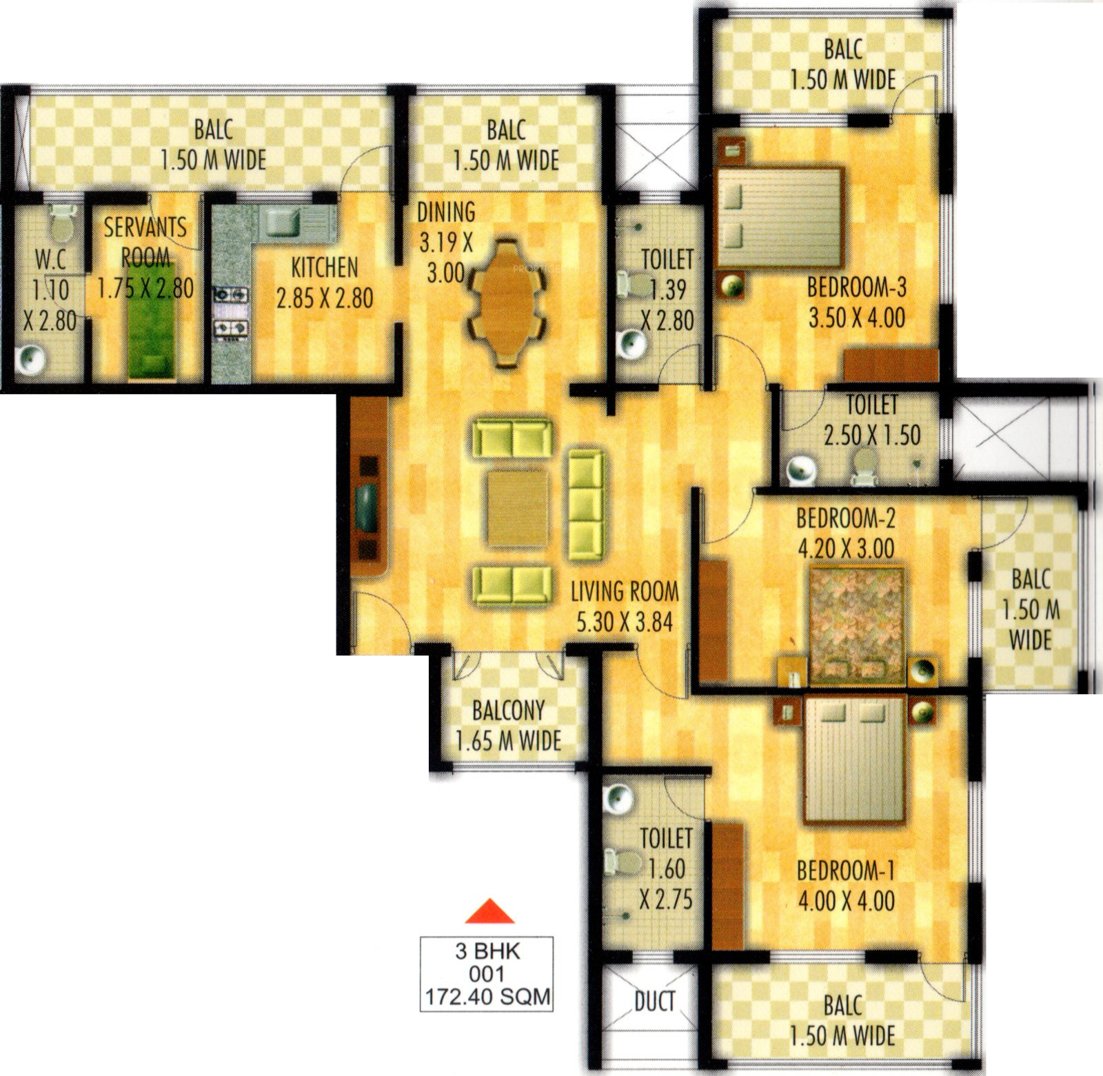 1855 sq ft 3 bhk 3t apartment for sale in udbhav properties