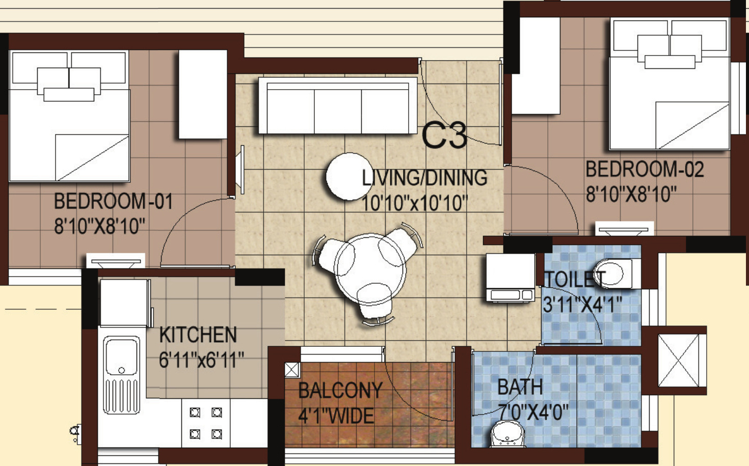 Akshaya Tango Compact Homes in Thoraipakkam OMR Chennai Price