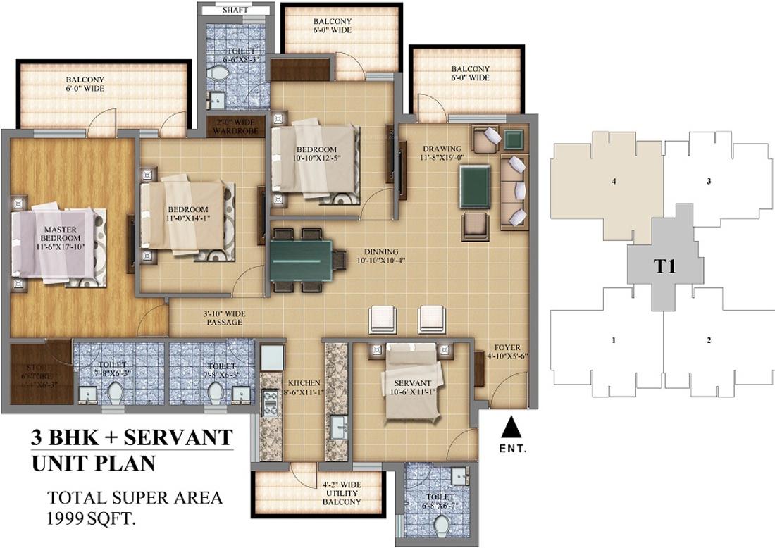 Pareena mi casa in sector 68 gurgaon price location for Casa floor