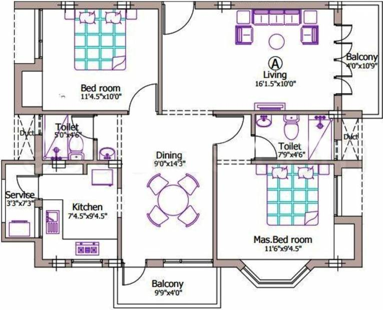 1120 sq ft 2 bhk floor plan image grn engineers and for My contractor plan