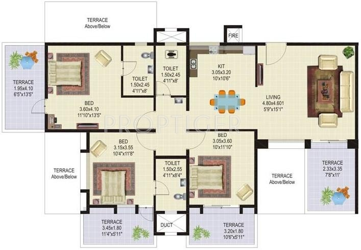 1600 sq ft 3 bhk 3t apartment for sale in bunty group for 1600 sft apartment design