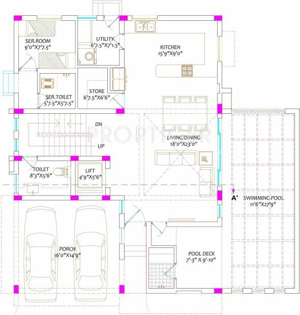 Radiance Green Springs (4BHK+6T (5,300 sq ft)   Servant Room 5300 sq ft)