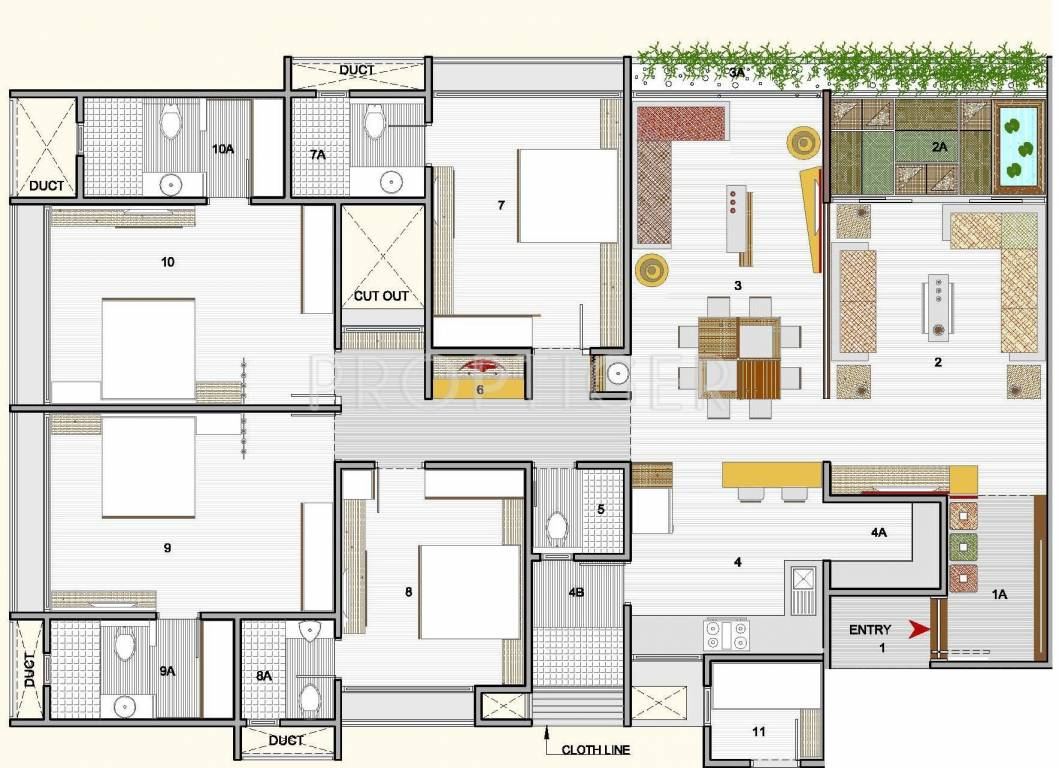 3500 sq ft 4 bhk 4t apartment for sale in sankalp for 3500 square feet house plans