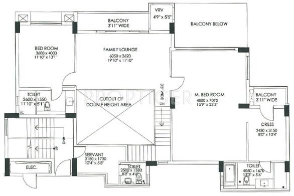 DLF Commanders Court (4BHK+4T (3,833 sq ft) + Study Room 3833 sq ft)