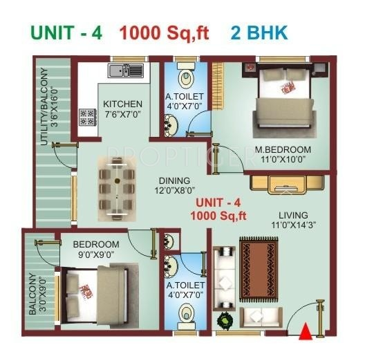 Excel pranav in kudlu bangalore price location map for 1000 sq ft 2bhk house plans