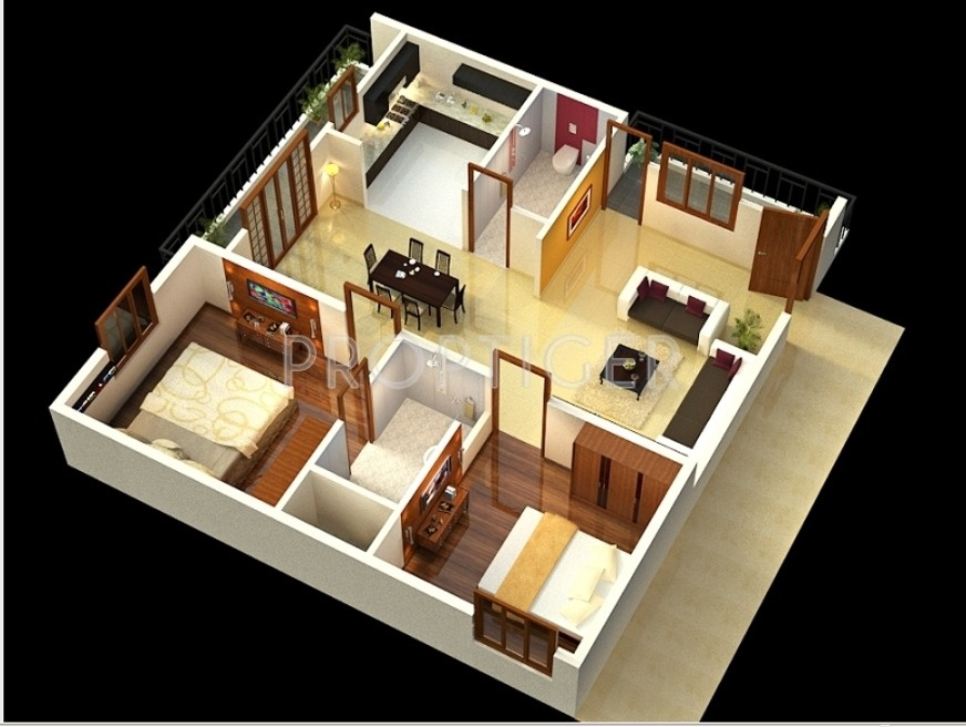 1200 Sq Ft 2 Bhk 2t Apartment For Sale In Sumukha