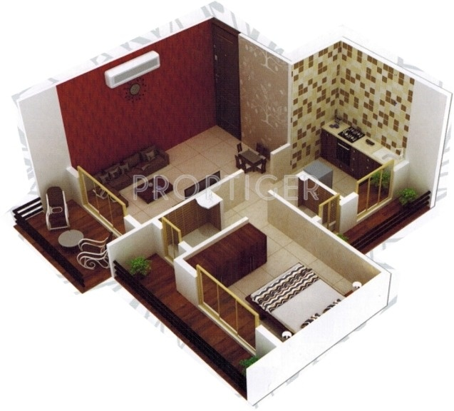 680 sq ft 1 bhk 1t apartment for sale in bhushan group for 680 square feet house plan