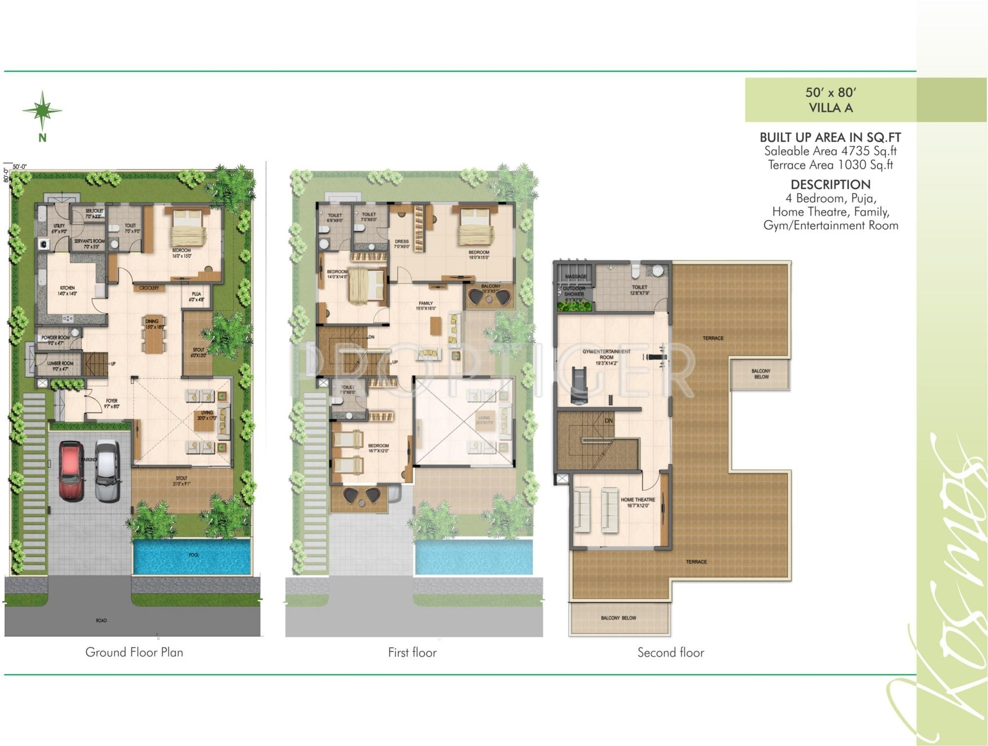 4735 sq ft 4 bhk 6t villa for sale in fortune group kosmos for 4 bhk villas in bangalore